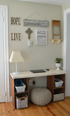 Could use more to accompany my quote!  http://homedecorbyeva.blogspot.com/2013/09/diy-quotes-on-wooden-planks.html