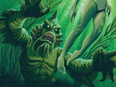 The last Campy Creature (until Keymaster releases an expansion pack). Our Swamp Creature plays off the old trope but we've added some catfish and Anglerfish characteristics.