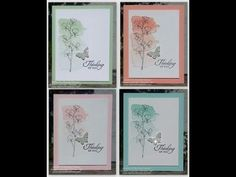 card making video: Easy Watercolor Card - YouTube ... Happy Watercolor stamp set from Stampin' Up!