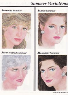 To help you understand the 16 seasonal types I have copied the images from Bernice Kentners' book, Color Me A Season. This should give you a visual to the typical looks for the 16 seasons. Keep in mind that skin and hair can be lighter or darker in all of the seasons. Eye color can be different from the examples as well. Your certified color consultant will determine your season based on many tests. Shelley is a graduate of NMSU with a B.A. degree in anthropology.