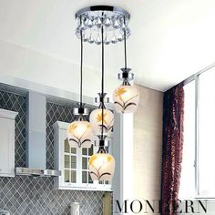 Fashion Pastoral Crystal Dining Room Pendent Lamp Bar Pendent Lamp Living Room Pendent Lamp -2