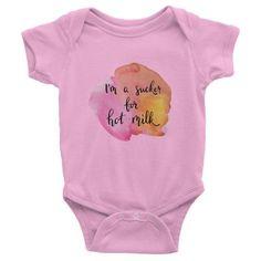 Hot Milk Designer baby onesie, clothes