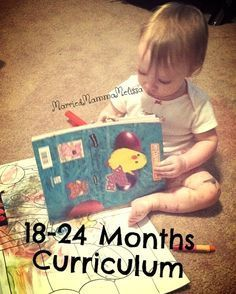 """Little interest but good ideas Married Mama Melissa: 18 - 24 Month Toddler """"Curriculum"""" Toddler Learning Activities, Baby Learning, Infant Activities, Preschool Activities, 18 Month Activities, Educational Activities, Lesson Plans For Toddlers, Infant Lesson Plans, Toddler Play"""