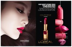 Fan Bingbing for L'Oreal Paris Color Riche Lipstick Ad Campaign Best Lipstick Brand, Lipstick Brands, Best Lipsticks, Matte Lipsticks, Fan Bingbing, Maybelline Lipstick Shades, Nyx Lipstick, Beauty Companies, Beauty Shots