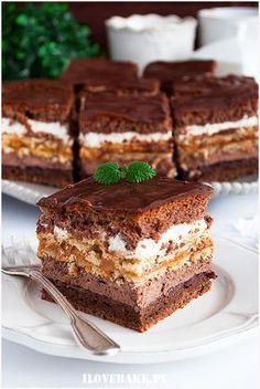Just Desserts, Delicious Desserts, Yummy Food, Cookie Recipes, Dessert Recipes, Cake Bars, Polish Recipes, Pie Dessert, Homemade Cakes