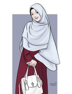 Cute Muslim Couples, Muslim Girls, Muslim Ramadan, Hijab Drawing, Islamic Cartoon, Hijab Cartoon, Beautiful Muslim Women, Girly Drawings, Islamic Girl