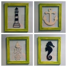 Cricut-vinyl on glass with painted frames