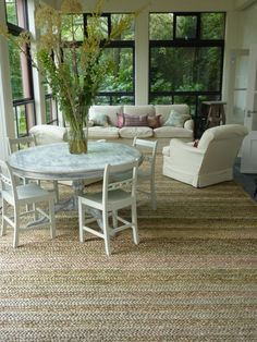 Playroom Sunroom Furniture Layout White On Seagr Rug Meet Me In Philadelphia