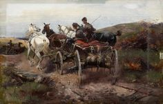 Alfred von Wierusz-Kowalski - Wildkutschenfahrt