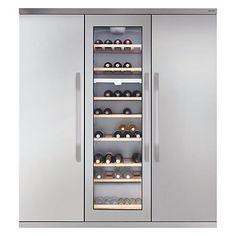 Buy John Lewis Side by Side JLFFW1554 Slimdepth Wine Cooler Triple Fridge Freezer, Stainless Steel Online at johnlewis.com