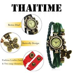 ThaiTime Wholesale Lot of 6pcs Womens Girls Butterfly Leather Strap Bracelet Wrist Watches 4.2 out of 5 stars  89 $18.99 Wholesale Beads, Butterfly Design, Wrist Watches, Bracelet Watch, Band, Female, Stars, Bracelets, Girls