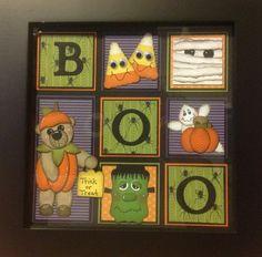 Halloween Frame by Karen Miller Halloween Frames, Christmas Frames, Up Halloween, Halloween Pictures, Halloween Cards, Halloween Decorations, Halloween Scrapbook, Halloween Quilts, Candy Cards