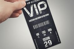 Vintage VIP PASS card @creativework247