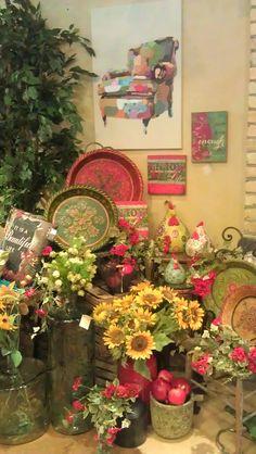 Summer 2013 Display. Lexington Floral, Shoreview, MN.  #Store Displays #Gift Shop #Gift Shop Displays #Home Decor
