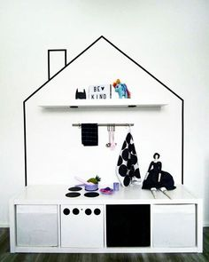 IKEA Kallax shelves and shelving units are the best canvas for creating! Kallax shelves are so universal that you can get almost anything from them . Diy Kallax, Trofast Ikea, Ikea Kallax Shelf, Ikea Kids Room, Kids Bedroom, Deco Kids, Craft Room Storage, Lp Storage, Record Storage
