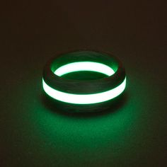 Eclipse Carbon Lume RIng by Black Badger, Sweden - photoluminescent material that shines in the darkness of night...