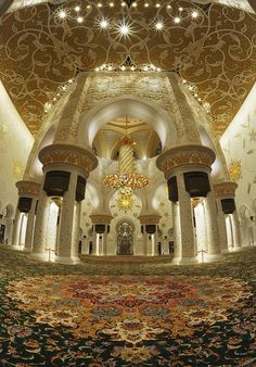 Sheikh Zayed Grand Mosque in Abu Dhabi. #sensational