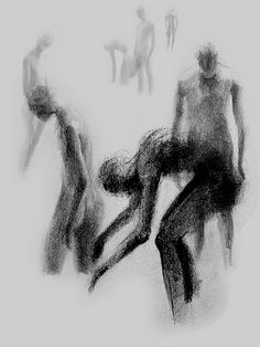 Mass gesture drawing. Love the way each body is identified.
