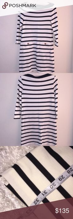 "NWT Stripe Boatneck Kate Spade Dress ♠️ Size is XS. Brand new! Dress length is 33"" and measures about 15 1/2"" from pit to pit. Perfect simple piece ☺️xxx kate spade Dresses"