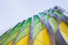 The facade of the Research Lab of the University Medical Center Groningen (UMCG), the Netherlands.