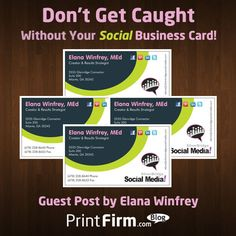 Have you ever been caught without your social media info when you needed it? Guest author Elana Winfrey will help you make sure this never happens again!