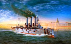 "Russian warship ""Oslyabya"" in St Petersburg, Russo-Japanese War"
