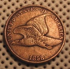 OLD US COINS RARE HIGHGRADE 1858 FLYING EAGLE PENNY CENT CHOICE
