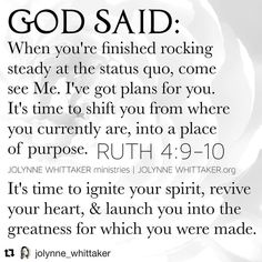 #Repost @jolynne_whittaker with @repostapp  GOD HAS PLANS FOR YOU . PROPHETIC WORD . . You're here to contribute something relevant to the world.  You are not average random or an accident.  God never made anything without a purpose for it.  YOU HAVE A PURPOSE and I say with the utmost of humility: God has placed you in proximity a prophet so you can GROW HEAR LEARN PREPARE.  Glory to God!!!To God be the glory forever and forever!  I am just excited and grateful to watch YOU grow and…