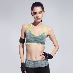 07991d5fe0ba6 Quick-Drying Cushioned Gym Bra Without Seams Women s Sports Bras