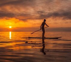 """This's week's #liveyourquest regram of the week is from @kayvdr yet again! Get in on the action and show us how you live YOUR quest! Here's what Kayleen had to say about it: """"Managed to make it out for a sunset sup today too! I promise mom I got some school work done today too I'm just efficient with my time! You need to make time for what you love else life just isn't much fun am I right? ------------------------------------------- Here's @sylviaaaw gliding over the water this morning…"""