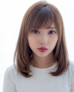 This domain may be for sale! Kawaii Hairstyles, Hairstyles With Bangs, Beautiful Japanese Girl, Beautiful Asian Girls, Layered Hair With Bangs, Pretty Face, Medium Hair Styles, Asian Beauty, Hair Cuts
