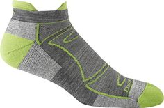Darn Tough Men's No-Show Light Cushion Athletic Socks, ( Style ) - 6 Pack Green/Gray, Large 1722