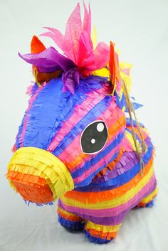 For Local Clients Only. Due to the size of this Piece it cannot be shipped :(  (Check the Map located in this listings photo gallery to see if your city is in our service area)  Our Signature Donkey come to life...We have modernized the traditional Mexican Donkey Pinata fitting it to our taste. We here at Pinata Design Studio were all born and raised in America, leading to the inevitable evolution and transformation of the traditional Donkey pinata. Show our donkey some love by inviting him…