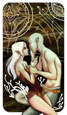 Solas and Lavellan http://knight-enchanter.tumblr.com