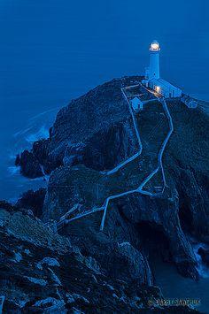 vvv South Stack Lighthouse, north wales, UK