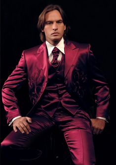 Red Satin Suit