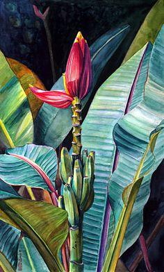 Watercolor Artists Websites | ... artist torch ginger watercolor painting canna lily watercolor painting