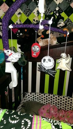 Nightmare Before Christmas Baby Mobile by DeadlyDarlings on Etsy