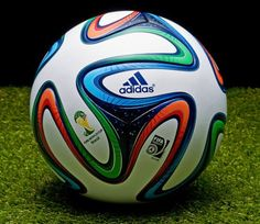 This is the beautiful,special, white futbol soccer ball. The ball is Adidas' brand. Is a original ball of Fifa World Cup two thousand and fourteen. It has a price of one thousand and  three hundred pesos