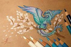 Lunar water dragon by AlviaAlcedo on DeviantArt Cute Dragon Drawing, Stickers Kawaii, Water Dragon, Dragon Artwork, Cute Dragons, Magical Creatures, Pencil Art, Cool Drawings, Cute Art