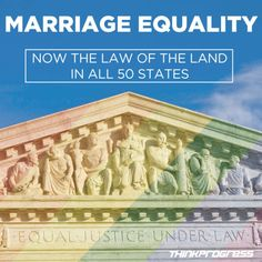 @thinkprogress : Marriage Equality now legal. #SCOTUS #MarriageEquality #LGBTQ