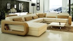 Cheap corner couch, Buy Quality design couch directly from China couch design Suppliers: Sofa Modern Design Hot Sale Top Grain leather Sofas Corner Couches with comfortable Chaise longue Best Leather Sofa Furniture U Shaped Sectional Sofa, Sofa Couch, Comfy Sofa, Chesterfield Sofa, Modern Sectional, Sectional Sofas, Large Sectional, Sofa Set Designs, Sofa Design