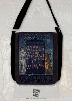 Art Nouveau  Doctor quote TARDIS and the Weeping by FeerieDoll