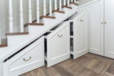 6 Ways to Repurpose the Space Under Your Stairs Under Staircase Ideas, Space Under Stairs, Basement Staircase, Staircase Landing, Staircase Storage, Wood Staircase, Staircase Remodel, Stair Storage, House Stairs