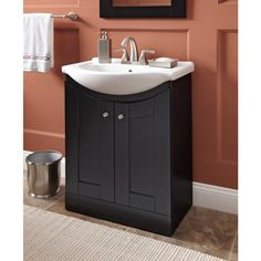 Bathroom Vanity 24 X 17 shop style selections foley espresso integral single sink bathroom