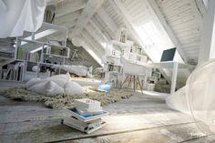 Wonderful Atmospheric White Attic Loft   Architect Lover