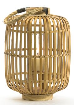 Bamboo Lantern Bamboo House, Natural Interior, Rattan Basket, Home Spa, Lamp Bulb, Tropical, Lamp Light, Floor Lamp, Light Fixtures