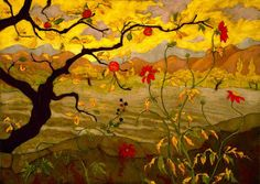 Apple Tree with Red Fruit  (1902) by Paul Ranson