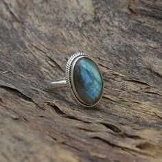 Natural Blue Fire Labradorite Gemstone 925 by Subhamjewels on Etsy