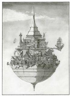 DeviantArt: More Like Laputa - the floating city by LegioAstartes